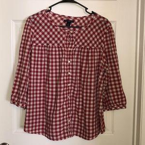 Gap vintage red & white checkered shirt 🥰 xl